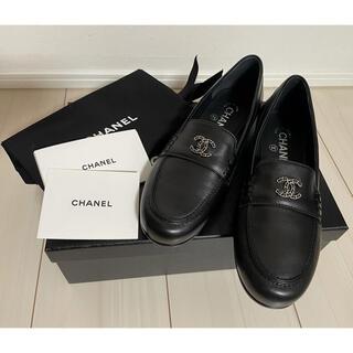 シャネル(CHANEL)のCHANEL カーフスキンローファー 37.5(ローファー/革靴)