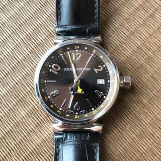 ルイヴィトン(LOUIS VUITTON)のルイヴィトン タンブール オトマティックGMT オートマティック腕時計(腕時計(アナログ))