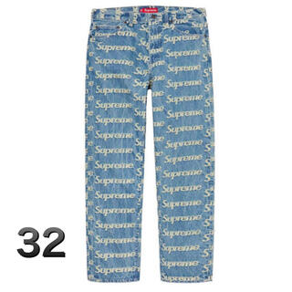 Supreme - 【32インチ】Supreme frayed logos denim jean