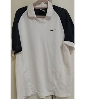 ナイキ(NIKE)のナイキ ゴルフウェア メンズ S 白 紺色 ドライフィット 半袖(ウエア)