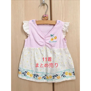 ミッキーマウス(ミッキーマウス)の女児服80cm まとめ売り11着 ワンピース 半袖 キッズ kids 子供服(その他)