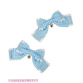 アンジェリックプリティー(Angelic Pretty)のAngelic Pretty♡Lovelyギンガム クリップset(バレッタ/ヘアクリップ)