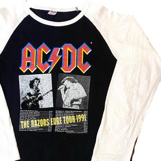 フィアオブゴッド(FEAR OF GOD)の90's AC/DC ACDC エーシーディーシー  Tシャツ ラグランT(Tシャツ/カットソー(七分/長袖))