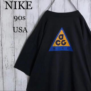 NIKE - 【美品】ナイキ ACG 90s 銀タグ USA製 両面プリント Tシャツ 黒