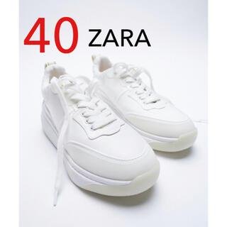 ザラ(ZARA)のZARA バックプルタブスニーカー スニーカー 新品 40(スニーカー)