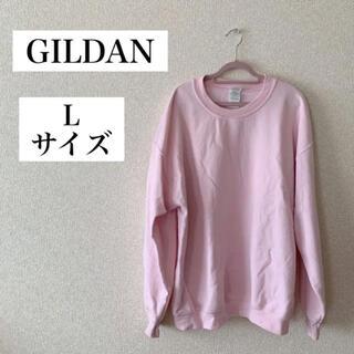 GILDAN - GILDAN ギルダン 長袖トレーナー ライトピンク スウェット裏起毛