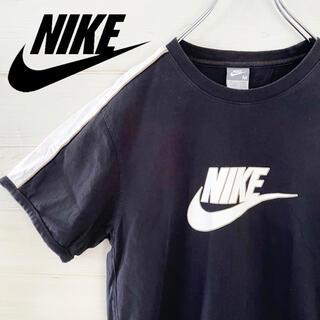 ナイキ(NIKE)の【極レア】NIKE ナイキ Tシャツ センターデカロゴ ブラック黒 古着(Tシャツ/カットソー(半袖/袖なし))