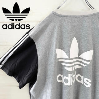 アディダス(adidas)の【極レア】adidas アディダスオリジナルス トレフォイルデカロゴ tシャツ(Tシャツ/カットソー(半袖/袖なし))