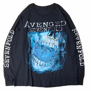 【希少】AVENGED SEVENFOLD 肩幅55身幅59袖丈66着丈75(Tシャツ/カットソー(七分/長袖))