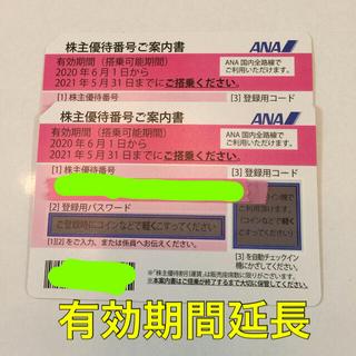 エーエヌエー(ゼンニッポンクウユ)(ANA(全日本空輸))のANA 全日空 株主優待券 2枚セット 匿名配送(航空券)