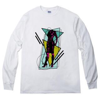 緊縛 プリント 長袖 Tシャツ  rrb82(Tシャツ/カットソー(七分/長袖))