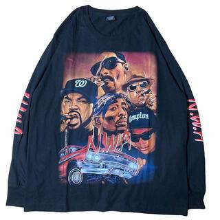 【希少】NWA 肩幅54身幅59袖丈63着丈75(Tシャツ/カットソー(七分/長袖))