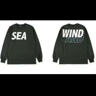 シー(SEA)の希少カラー 新品未使用 wind and sea ロンT  Sサイズ 緑(Tシャツ/カットソー(七分/長袖))