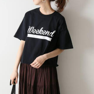 スピックアンドスパン(Spick and Span)のFUNG  ベーシックカットオフプリントTシャツ Spick & Span(Tシャツ(半袖/袖なし))
