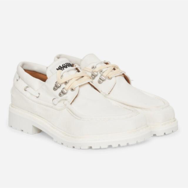 JOHN LAWRENCE SULLIVAN(ジョンローレンスサリバン)のmagliano マリアーノ ローファー キャンバス ホワイト 白 メンズの靴/シューズ(ドレス/ビジネス)の商品写真