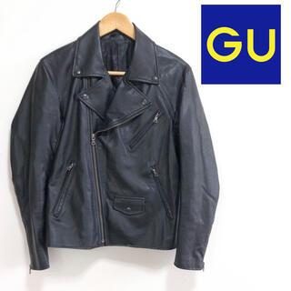 ジーユー(GU)の【美品】❤️GU❤️ ライダースジャケット 黒 〈M〉 フェイクレザー ジーユー(ライダースジャケット)