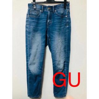 ジーユー(GU)のGU デニム ジーンズ ストレート ブルー(デニム/ジーンズ)