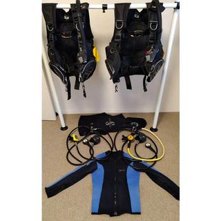 スキューバ ダイビング 重器材  BCD レギュレーター 2セット