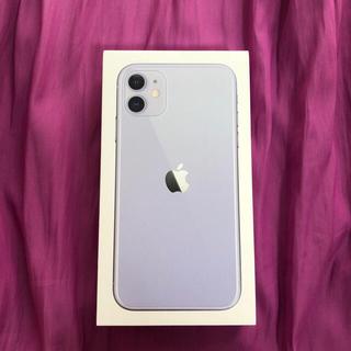 iPhone - 新品未使用 iPhone11 64GB SIMフリー パープル 紫
