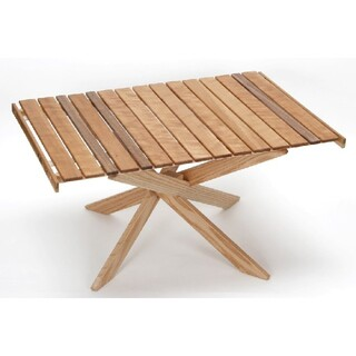 Snow Peak - ☆高級無垢木材☆OUT SIDE IN 別注 ローテーブル 高品質袋付 高級木