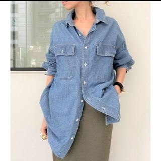 L'Appartement DEUXIEME CLASSE - 【REMI RELIEF/レミレリーフ】Chambray シャツ♦︎ブルー