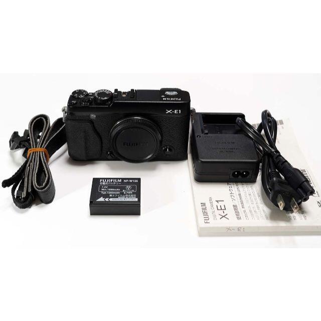 富士フイルム(フジフイルム)の【美品】X-E1 ブラック 黒 スマホ/家電/カメラのカメラ(ミラーレス一眼)の商品写真