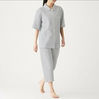MUJI (無印良品) - 脇に縫い目のない ワッフル織 半袖パジャマ
