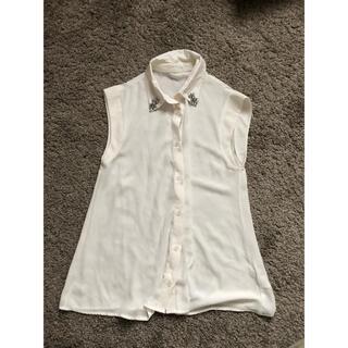 ムルーア(MURUA)のMURUA♡ビジュー付きタンクトップシャツ(シャツ/ブラウス(半袖/袖なし))
