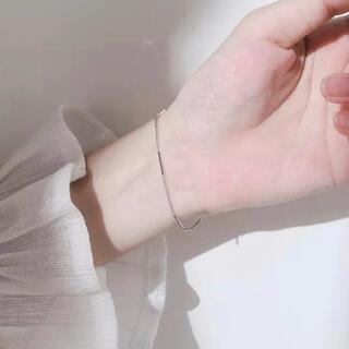 IENA - シンプルシルバーブレスレット デイリー silver925