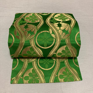 袋帯 全通柄 金糸 正絹(帯)