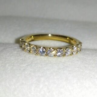 K18 ダイヤモンド ハーフエタニティ リング ダイヤ 0.50ct 8号
