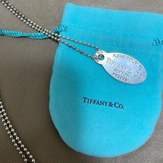 Tiffany & Co. - ティファニー⭐︎オーバルタグネックレス
