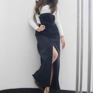 ジェイダ(GYDA)のGYDA サロペットデニムロングスカート(ロングスカート)
