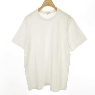 プラステ(PLST)のPLST 無地 クルーネック Tシャツ カットソー コットン 半袖 M ホワイト(Tシャツ(半袖/袖なし))
