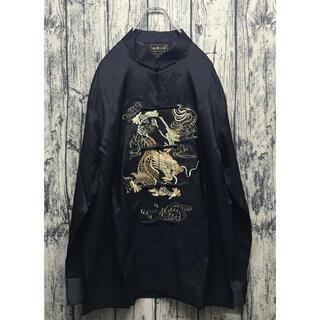 チャイナシャツ china shirt black×dragon(シャツ)