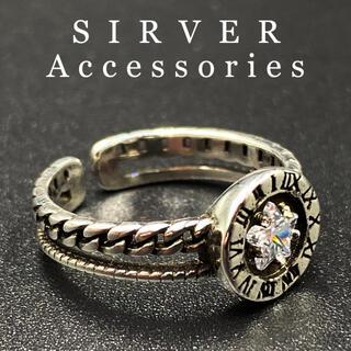 指輪 ユニセックス リング シルバーリング シルバー925 調節可能 98 F(リング(指輪))