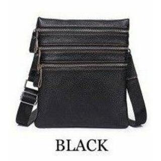【新品未使用】idadi 本革ショルダーバッグ メッセンジャーバッグ BLACK(ショルダーバッグ)