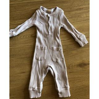 ザラキッズ(ZARA KIDS)の韓国子供服 ロンパース 60 グレー(ロンパース)