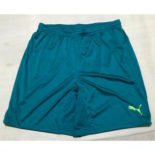 プーマ(PUMA)のプーマPUMAサッカーフットサルショートハーフパンツXL 緑グリーン黄色イエロー(ウェア)