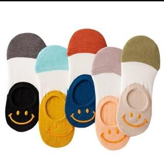 ☺かわいい にこちゃん靴下 レディース 人気  韓国 5足セット