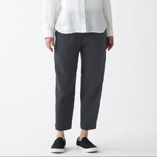 MUJI (無印良品) - ゆっくり織り 自然に仕上げた ワイドアンクルパンツ 男女兼用L~XL