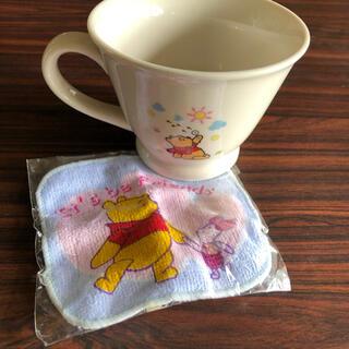 ディズニー(Disney)のプーさんのマグカップとミニタオル(グラス/カップ)