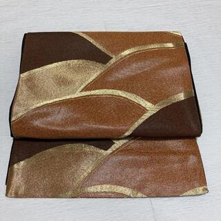 袋帯 六通柄 金糸 芯なし(帯)
