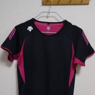 デサント(DESCENTE)のDESCENTE  Tシャツ ブラック 半袖(ウェア)