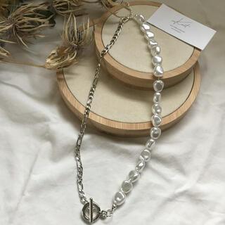 カスタネ(Kastane)のpearl chain necklace-silver-(ネックレス)