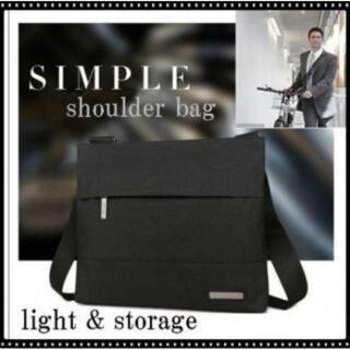 84黒 ショルダーバッグ メンズ 防水 斜め掛け 軽量 ビジネスバッグ おしゃれ(ショルダーバッグ)
