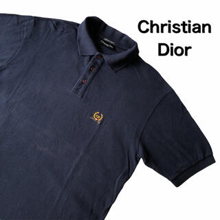 クリスチャンディオール(Christian Dior)のクリスチャンディオール ポロシャツ  半袖 刺繍ロゴ 古着 ビンテージ Dior(ポロシャツ)