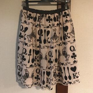 エミリーテンプルキュート(Emily Temple cute)の白ウサギとスプーンフロッキースカート(ひざ丈スカート)