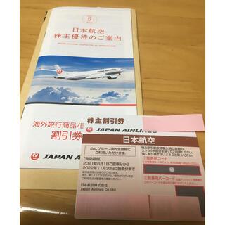 ジャル(ニホンコウクウ)(JAL(日本航空))のJAL 株主優待券 1枚、冊子(航空券)