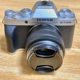 富士フイルム - FUJIFILM X-T200 シルバー レンズキット ミラーレス一眼レフ